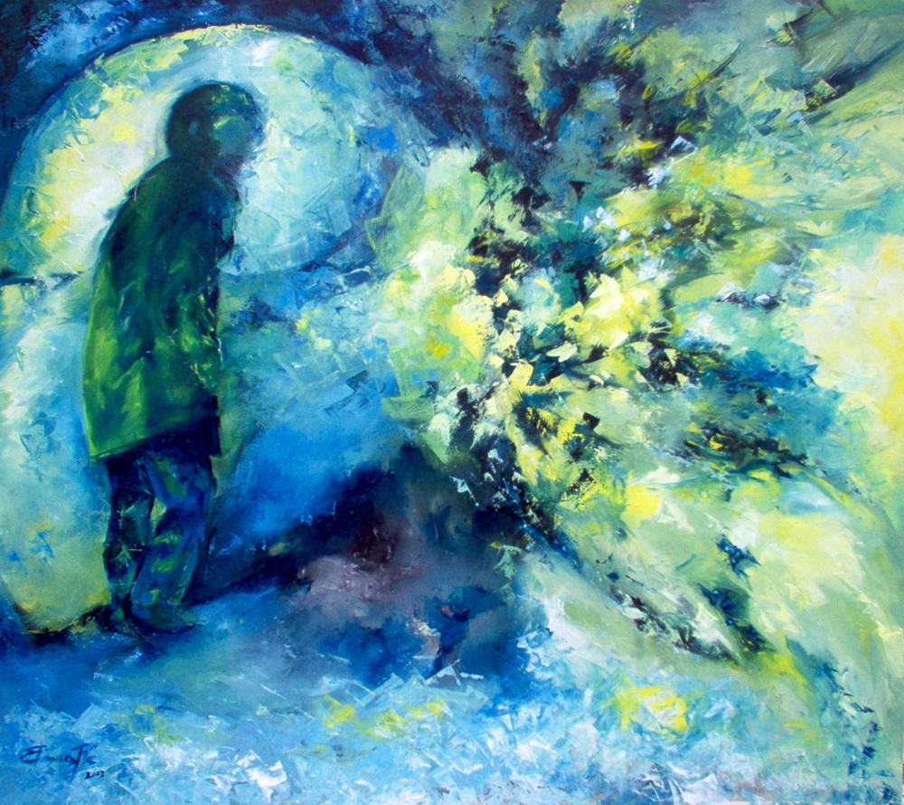 """L'opera """" Voce della sera"""" è scelta da V. Sgarbi e inserita nel testo  LE SCELTE DI SGARBI  99 artisti dai cataloghi d'arte e dintorni"""